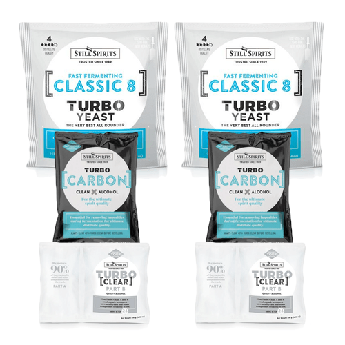 Still Spirits Triple Pack - Turbo Yeast CLASSIC 8, Turbo Carbon and Turbo Clear x 2