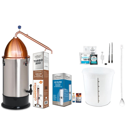 Still Spirits Turbo 500 with Copper Reflux Condenser & Copper Alembic Dome Starter Pack