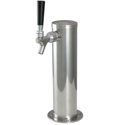Stainless Steel American Style Single Tap Beer Tower