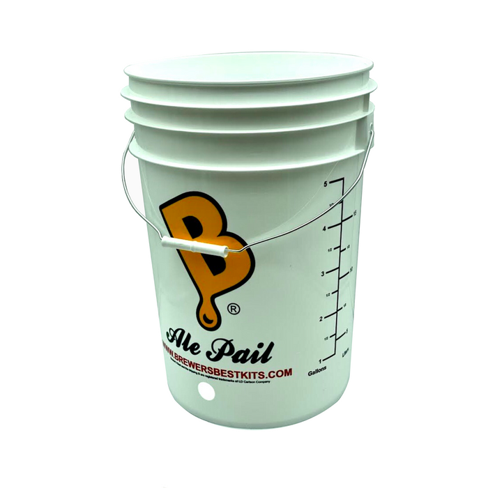 6.5 Gallon Food Grade Bottling Bucket - Drilled for Spigot