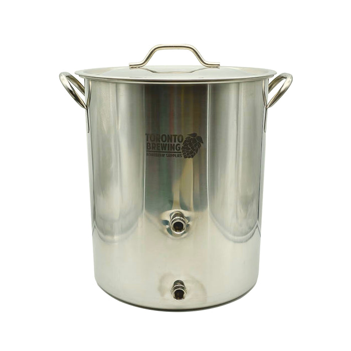"10 Gallon Stainless Steel Brew Pot Kettle with 1/2"" Female Ports (BE10002-10)"