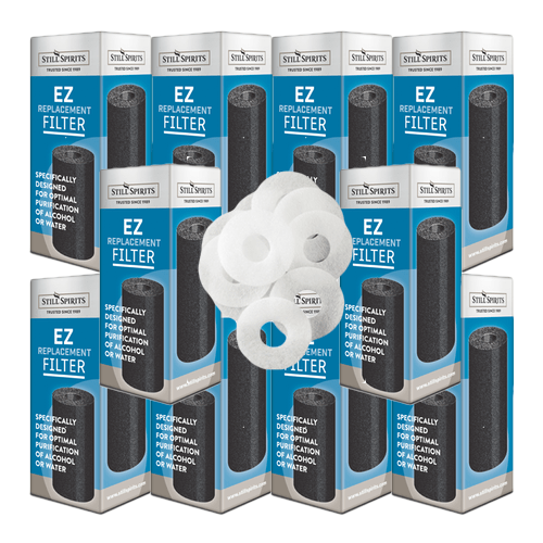 Still Spirits EZ Filter Carbon Cartridge Replacements and Washers x10