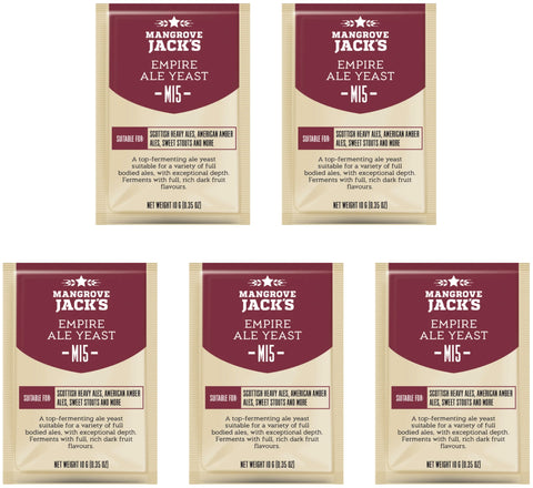 Mangrove Jack's Empire Ale Yeast - 10g (Pack of 5)