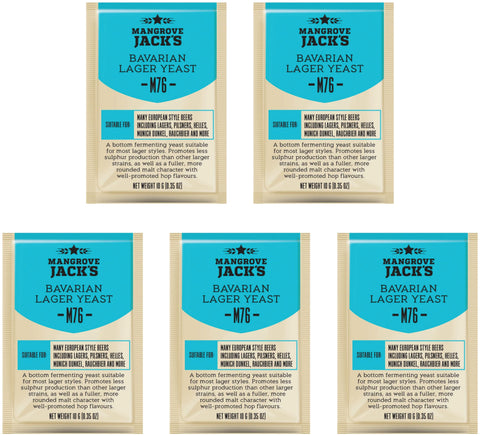 Mangrove Jack's Bavarian Lager Yeast - 10g (pack of 5)