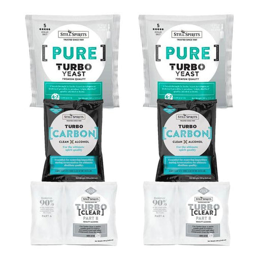 Still Spirits Triple Pack - Turbo Yeast PURE, Turbo Carbon and Turbo Clear x 2