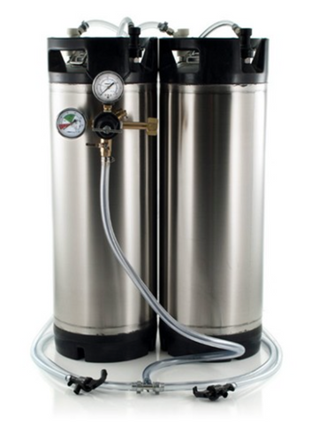 Basic Ball Lock Homebrew Kegging Kit for Two 5 Gallon Cornelius Kegs with Picnic Taps, and Regulator