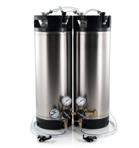 Basic Ball Lock Homebrew Kegging Kit for Two 5 Gallon Cornelius Kegs with Picnic Taps, and Dual Product Regulator