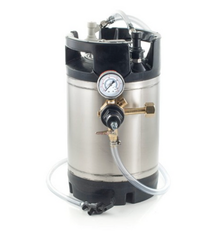 Basic Ball Lock Homebrew Kegging Kit with 1.75 Gallon Cornelius Keg, Picnic Tap, and Regulator