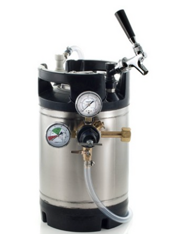 Basic Ball Lock Homebrew Kegging Kit with 3 Gallon Cornelius Keg, Faucet Adapter, and Regulator