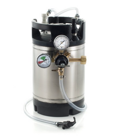 Basic Ball Lock Homebrew Kegging Kit with 3 Gallon Cornelius Keg, Picnic Tap, and Regulator