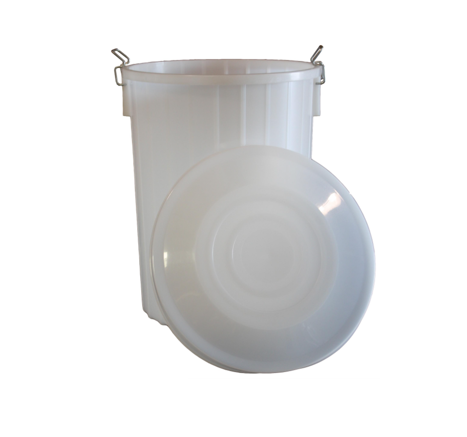 Food Grade Plastic Bucket With Solid Lid (20 Gallon)