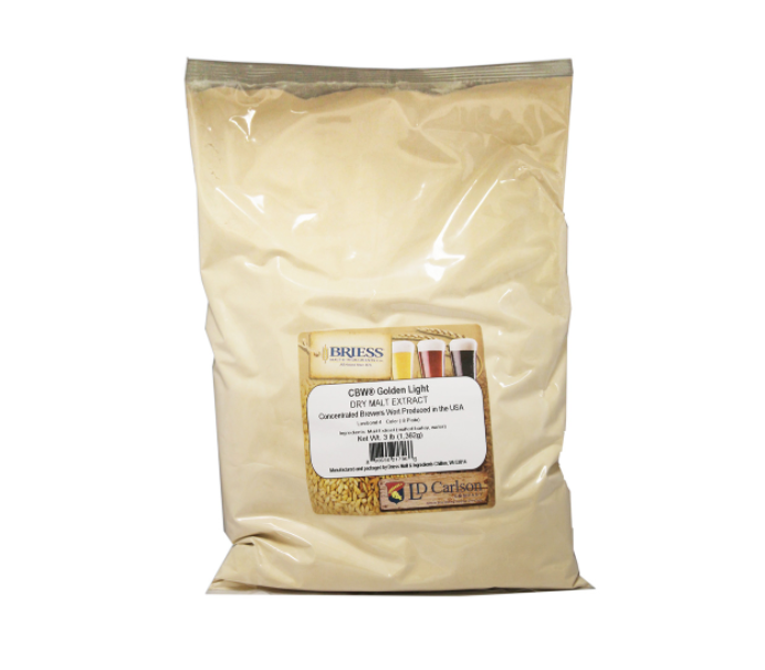 Briess Golden Light Dry Malt Extract DME (3 lb)