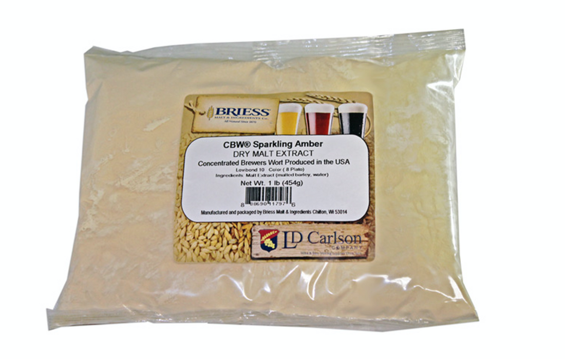 Briess Sparkling Amber Dry Malt Extract DME (1 lb)