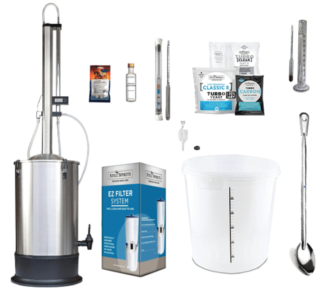 Still Spirits Turbo 500 with Stainless Steel Condenser Starter Pack