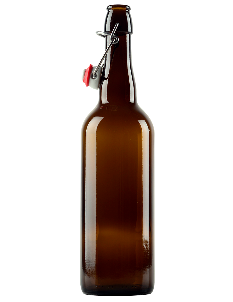 Swingtop Flip Top Glass Bottles - Brown - 750 ml