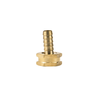 "Brass Garden Hose Fitting - 3/4"" Female GH x 3/8"" Barb - Toronto Brewing"
