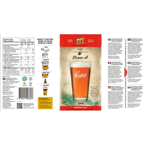 Coopers Beer Kit IPA India Pale Ale (5 Gallon/19 Litre)