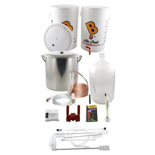 Brewer's Best 5 Gallon/19 Litre Deluxe Beer Brewing Equipment Starter Kit w/Glass Carboy + Kettle and Chiller - Toronto Brewing