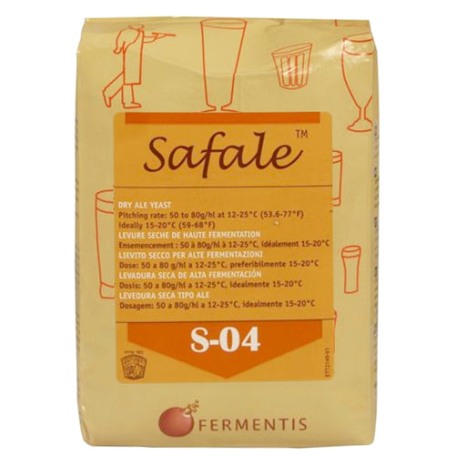 Fermentis Safale S-04 English Ale Dry Yeast (500 g Brick)