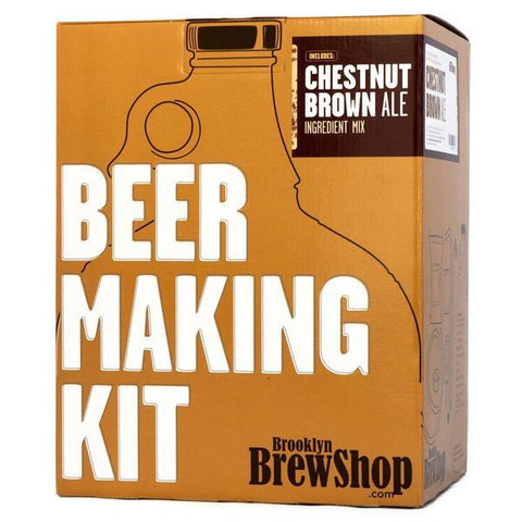 Brooklyn Brewshop Beer Making Equipment Kit - Chestnut Brown Ale (1 Gallon/10 Beers) - Toronto Brewing