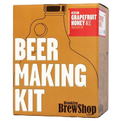 Brooklyn Brewshop Beer Making Equipment Kit - Grapefruit Honey Ale (1 Gallon/10 Beers) - Toronto Brewing