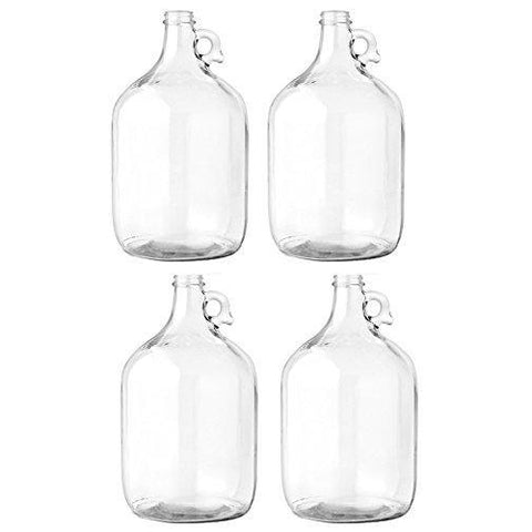 Carboy - 1 Gallon Clear Glass Jug Fermenter (Pack of 4) - Toronto Brewing