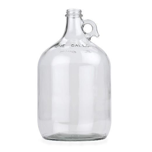 Carboy - 1 Gallon Clear Glass Jug Fermenter with Airlock and #6.5 Rubber Bung - Toronto Brewing