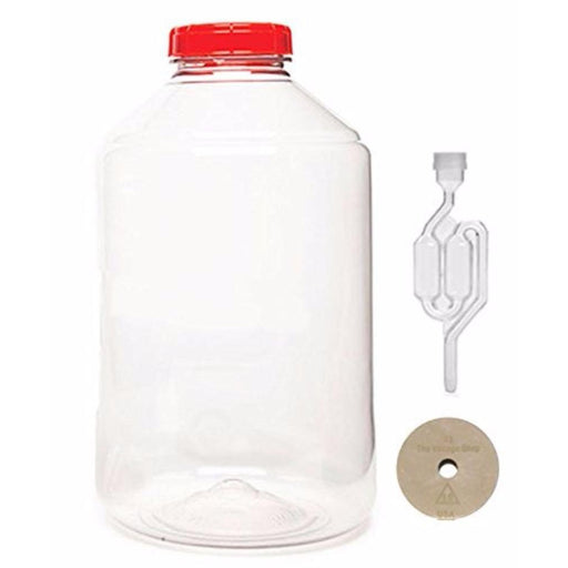 Carboy - 7 Gallon Fermonster Wide-Mouth PET Fermentor with #10 Drilled Stopper and S-Type Airlock - Toronto Brewing