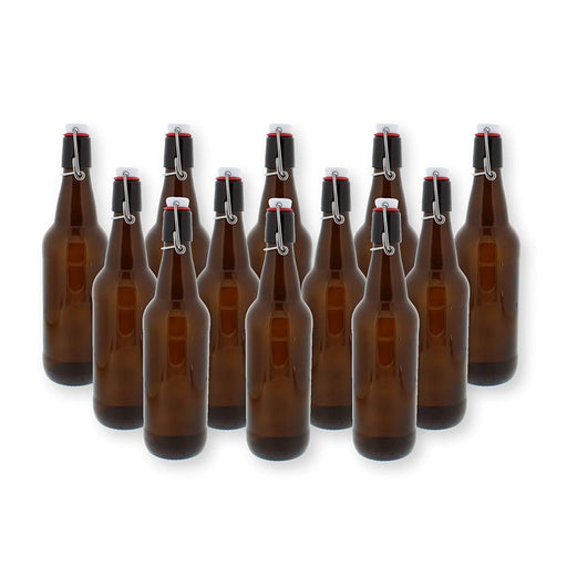 Case of 12 - Swingtop Flip Top Glass Bottles - Brown - 1000 ml - Toronto Brewing