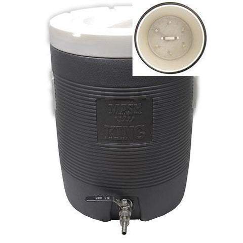 Converted 11.7 Gal Mash King Cooler Mash Tun (Trub Trap Bottom) - Toronto Brewing