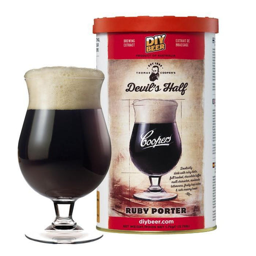 Coopers Beer Kit Devil's Half Ruby Porter (5 Gallon/19 Litre) - Toronto Brewing