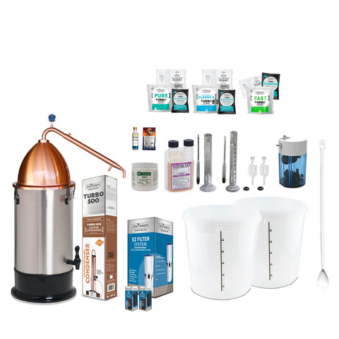 Still Spirits Turbo 500 with Copper Reflux Column and Alembic Dome Super Deluxe Starter Pack