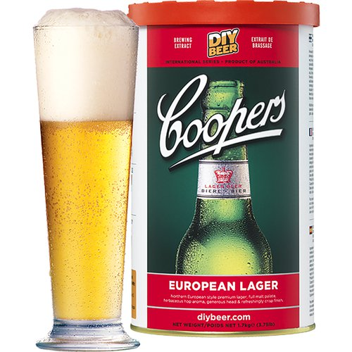 Coopers Beer Kit European Lager (6 Gallon/23 Litre)