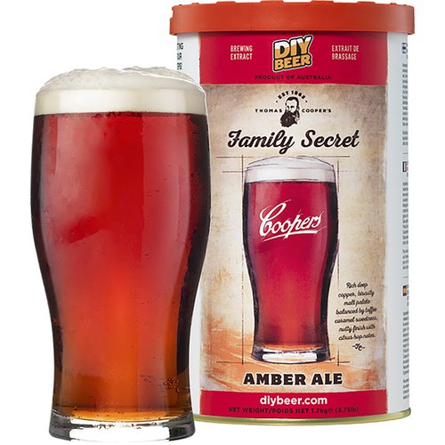 Coopers Beer Kit Family Secret Amber Ale (6 Gallon/23 Litre)