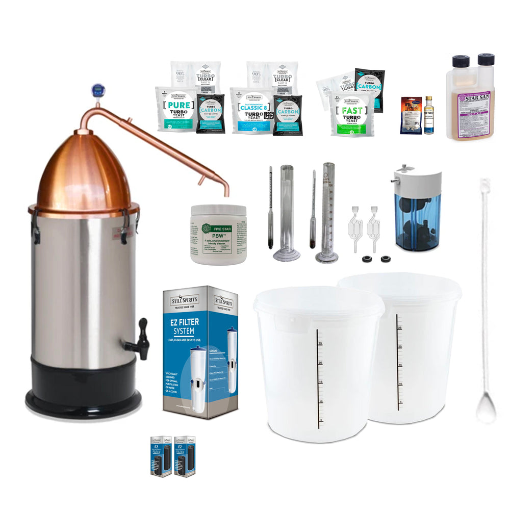 Still Spirits Turbo 500 with Copper Alembic Dome Super Deluxe Starter Pack