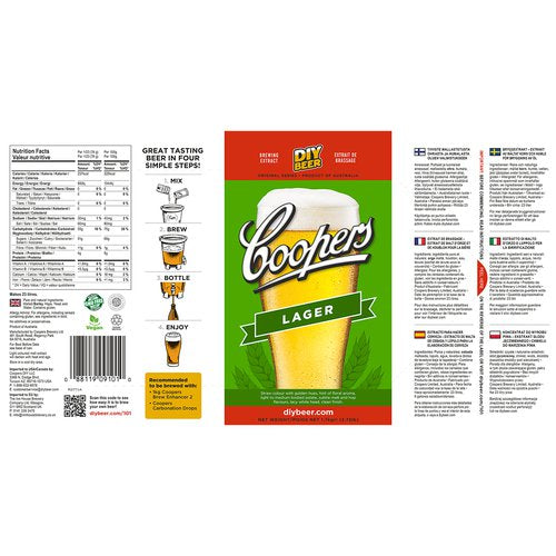 Coopers Beer Kit Original Lager (6 Gallon/23 Litre)