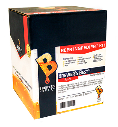 Brewer's Best Raspberry Golden Ale Extract Homebrew Recipe Kit - 1 Gallon/4 Litre