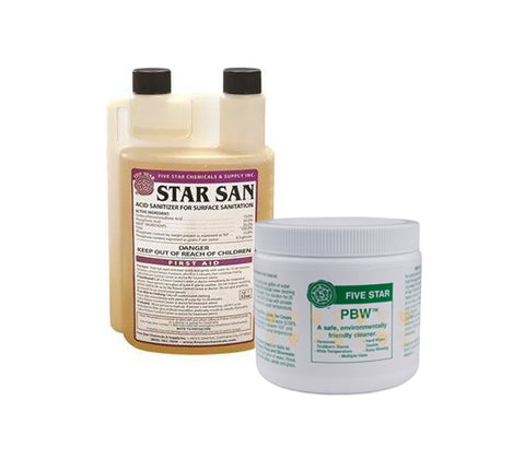 Star San (8 oz) and PBW (1 lb) Kit