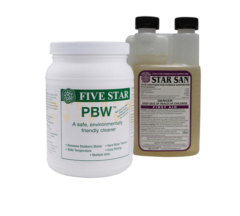 Star San (16 oz) and PBW (4 lb) Kit