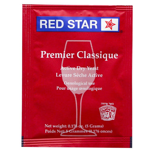 Red Star Premier Classique Dry Wine Yeast (5 g) - Toronto Brewing