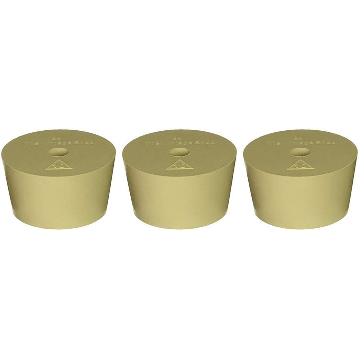 Rubber Stopper - Drilled Carboy Bung for Fermonster (#10) - Pack of 3 - Toronto Brewing