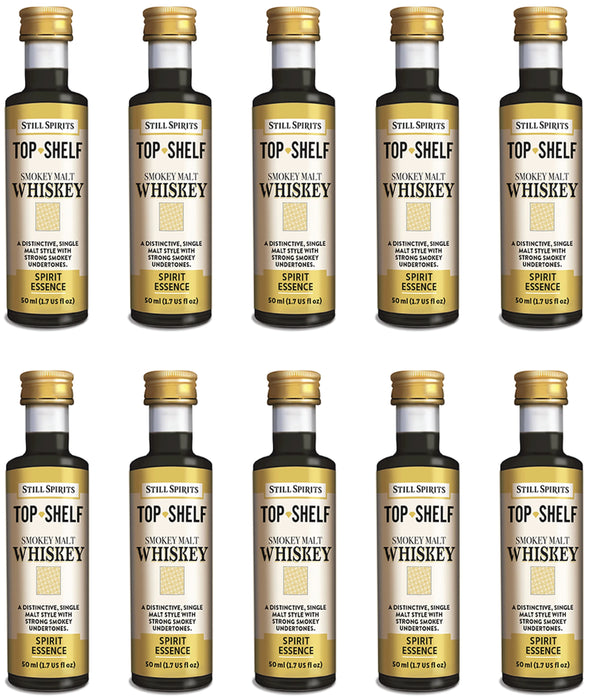 Still Spirits Top Shelf Smokey Malt Whiskey Essence (50 ml) - 10 PACK
