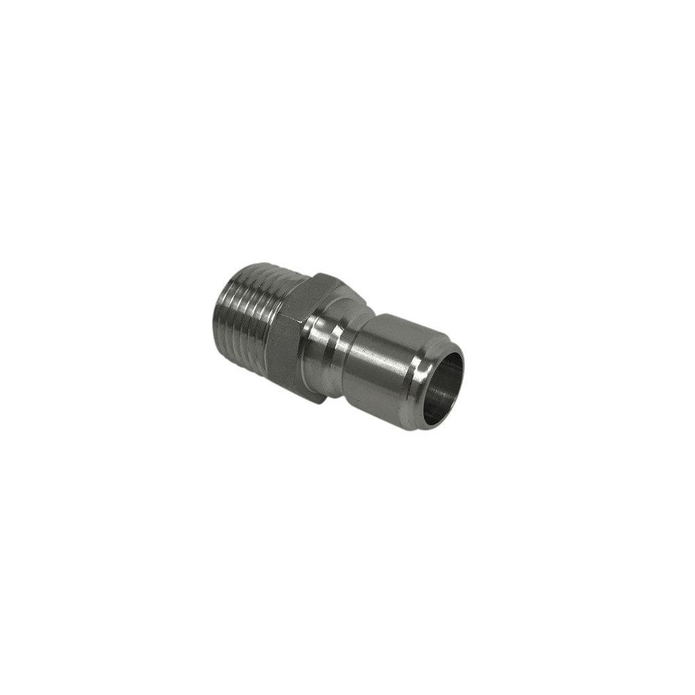 "Spike Brewing Stainless Steel Male Quick Connect to 1/2"" Male NPT Fitting - Toronto Brewing"