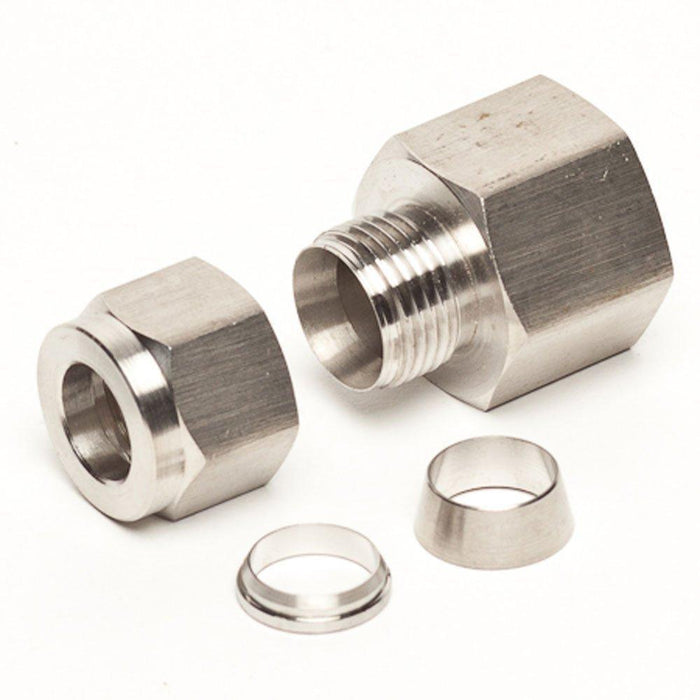 "Stainless Steel 1/2"" Female Compression Fitting - Toronto Brewing"