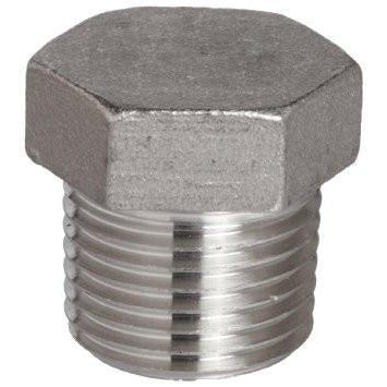 "Stainless Steel 1/2"" Hex Plug - Toronto Brewing"