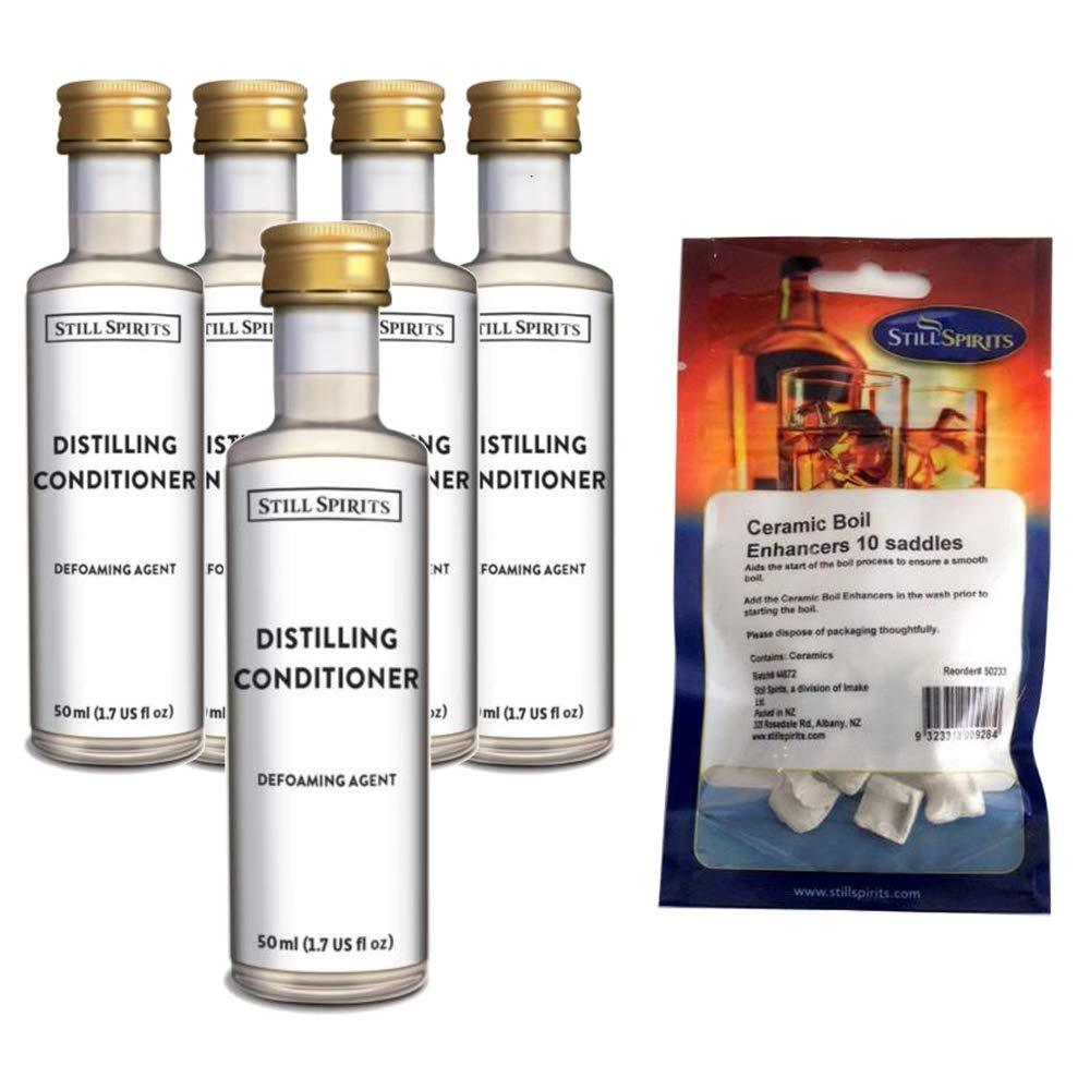 Still Spirits Maintenance Pack - Includes 5 Bottles of Distilling Conditioner and One Set of Ceramic Boil Enhancers - Toronto Brewing