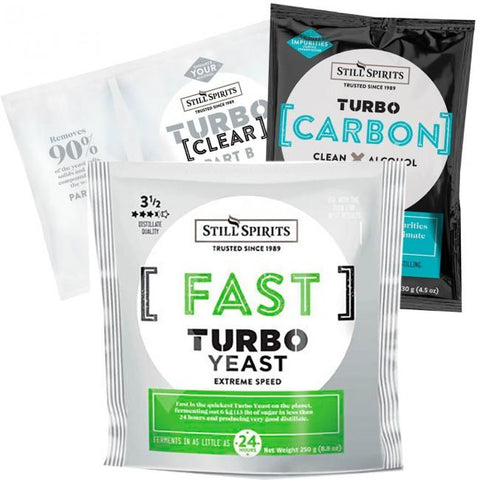 Still Spirits Triple Pack - Turbo Yeast FAST, Turbo Carbon and Turbo Clear - Toronto Brewing