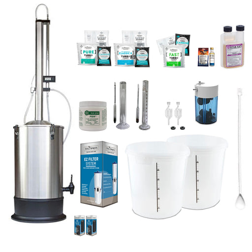 Still Spirits Turbo 500 with Stainless Steel Condenser Super Deluxe Starter Pack