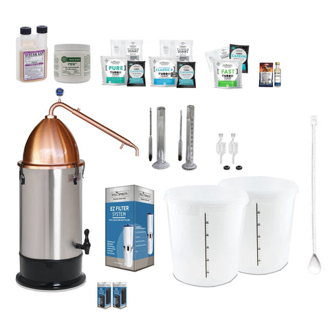 Still Spirits Turbo 500 with Copper Alembic Dome Deluxe Starter Pack