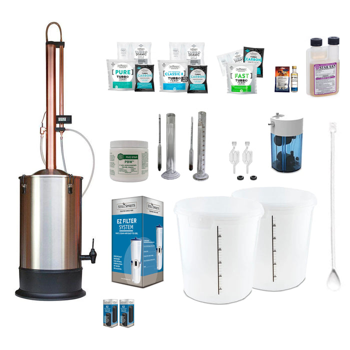 Still Spirits Turbo 500 with Copper Condenser Super Deluxe Starter Pack